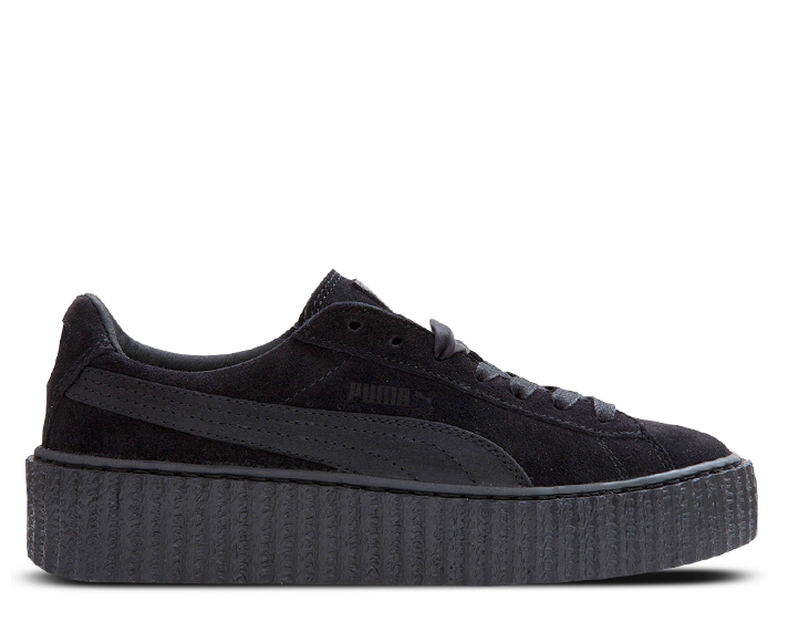 "premium selection 14936 ba8fd Rihanna x PUMA Suede Creeper ""Black Satin"""